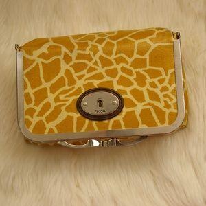 Fossil giraffe cosmetic bag vinyl